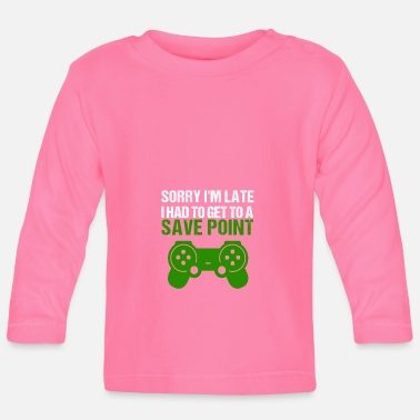 Online Gaming Late Sharepoint Online Gaming Gamers Gamer PC - Langærmet babyshirt