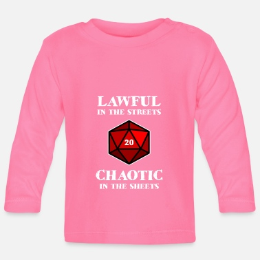 Dungeons And Dragons Pen and Paper D20 Dice Crit cool gamer gift - Baby Long Sleeve T-Shirt