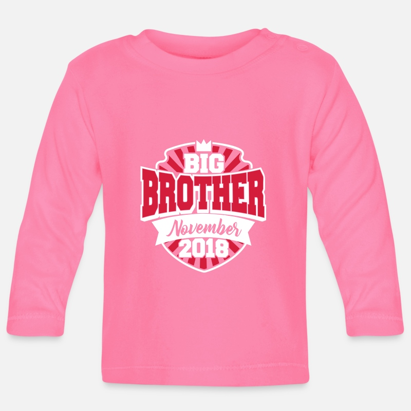 Brother Baby Clothing - Big Brother November 2018-big brother 2018-baby - Baby Longsleeve Shirt azalea