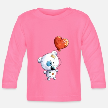 Teddy with balloon - Baby Long Sleeve T-Shirt