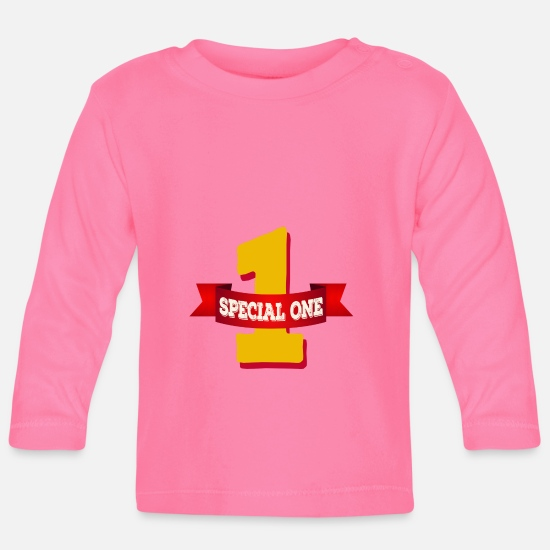 Special Forces Baby Clothes - Special One - The special number one - Baby Longsleeve Shirt azalea