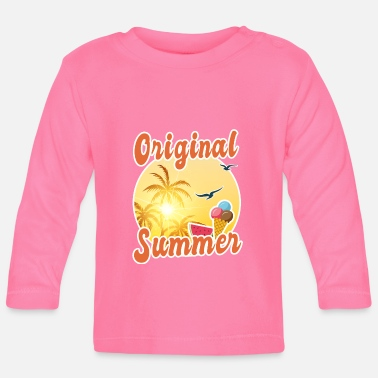 Summer Ts & Tanks Original Summer, Summer Ts, ice cream, gift - Baby Longsleeve Shirt