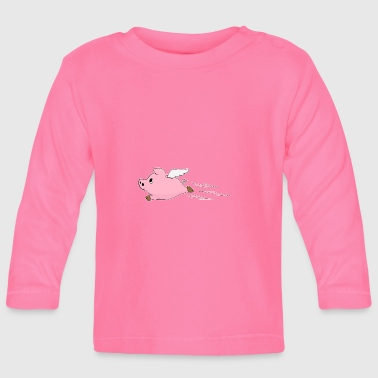 Lucky Charm Lucky charm angel pig - Baby Long Sleeve T-Shirt