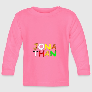 Name Jonathan with animal letters - Baby Long Sleeve T-Shirt