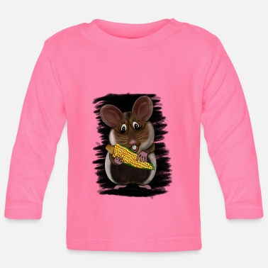 European hamster with corn on the cob - Baby Longsleeve Shirt