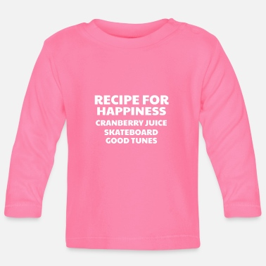 Good Ch Cranberry Vibes & Tunes Recipe for Happiness - Baby Longsleeve Shirt
