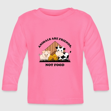 Vegetarier Animals are friends not food - Baby Langarmshirt