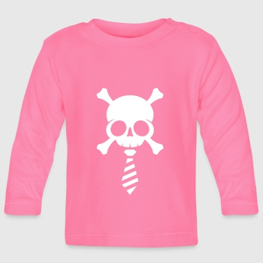 Skull Business White - Baby Long Sleeve T-Shirt