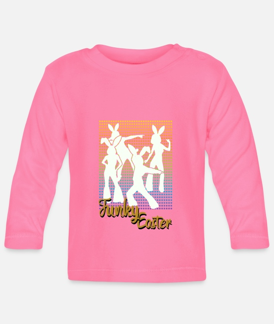 Easter Baby Long Sleeve Shirts - Funky Easter - Baby Longsleeve Shirt azalea