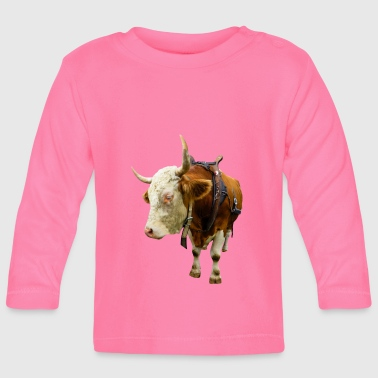 cow beef rind kuh animal tier - Baby Langarmshirt