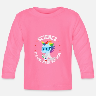 Physics Funny science unicorn saying teacher gift - Baby Longsleeve Shirt