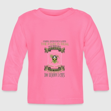 mountain-mining-mining worker-worker-worker-miner - Baby Long Sleeve T-Shirt