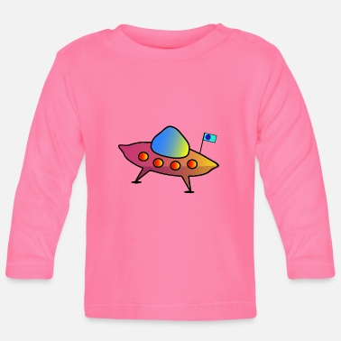 Scifi UFO, flying saucer, spaceship, scifi - Baby Longsleeve Shirt