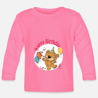Happy Birthday Petit ourson - Happy Birthday - T-shirt manches longues Bébé