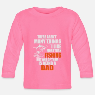 Carp i like fishing but one of them is being a dad - Baby Longsleeve Shirt