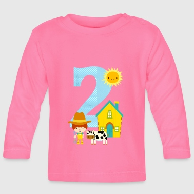 Age Birthday number 2 farm boy - Baby Long Sleeve T-Shirt