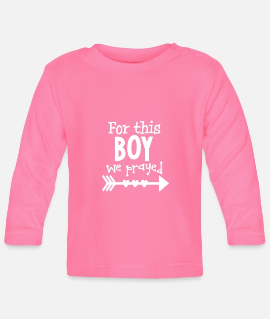 Proud Baby Long-Sleeved Shirts - Jesus Christ Cross God Gift Prayer - Baby Longsleeve Shirt azalea