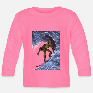 Surfer In A Wave - Baby Longsleeve Shirt