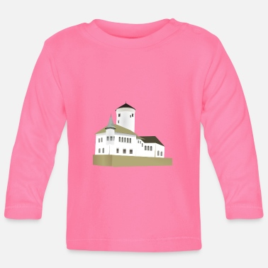 krone crown koenig king castle schloss tower burg2 - Baby Langarmshirt