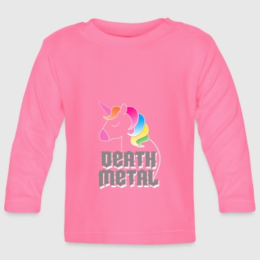 Death Metal Unicorn - Baby Long Sleeve T-Shirt