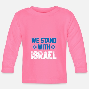 Tehran we stand with Israel - Gift Jew Democracy - Baby Long Sleeve T-Shirt