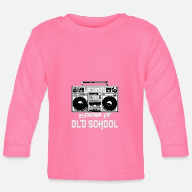80s Old School Boombox 80s | Keeping It Old School - T-shirt manches longues Bébé