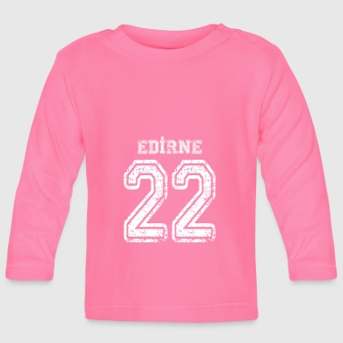 22 Edirne Turkish license plate as a gift - Baby Long Sleeve T-Shirt