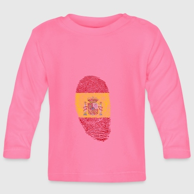 Spain fingerprint gift spanish spanish - Baby Long Sleeve T-Shirt