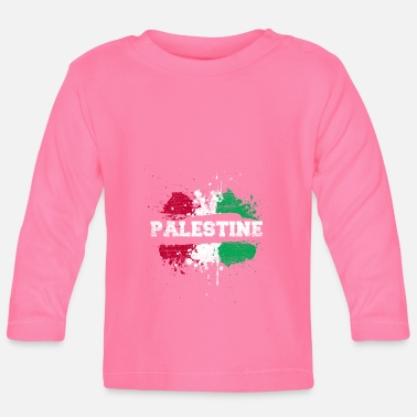 Splatter Palestine splatter - Baby Long Sleeve T-Shirt