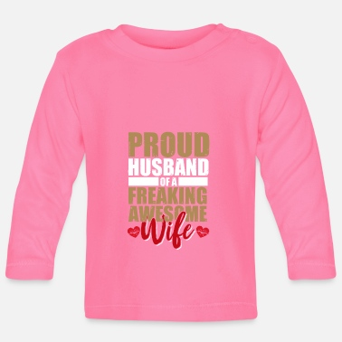 Married Couple Husband wife married couple wedding married ring - Baby Long Sleeve T-Shirt