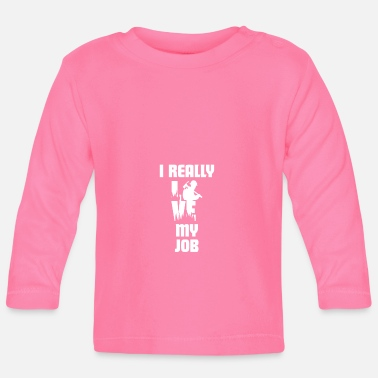 Officialbrands T-Shirt I Love My Firefighter - Maglietta a manica lunga per bambini