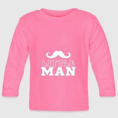 Little Man - Dad & Son Funny Matching - Baby Long Sleeve T-Shirt