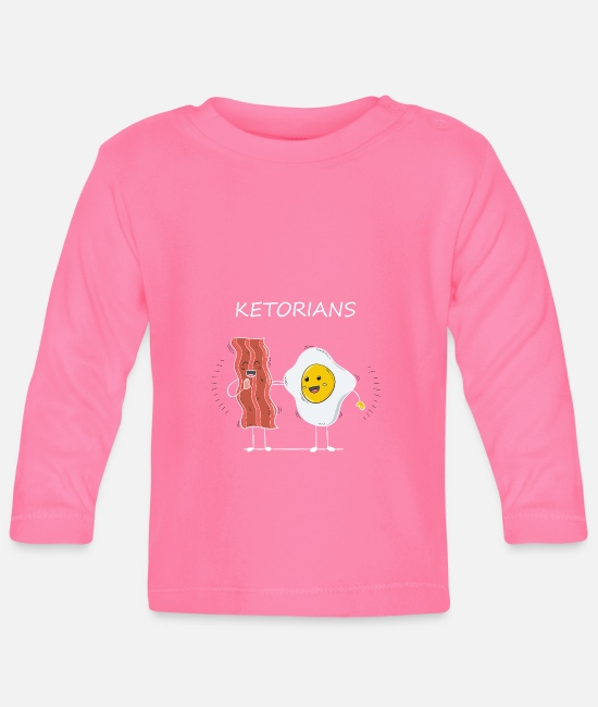Thickness Baby Long-Sleeved Shirts - Ketorian's KETO Diet Diet - Baby Longsleeve Shirt azalea