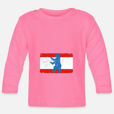 Berlin Bear Berlin flag with the Berlin Bear - Baby Long Sleeve T-Shirt