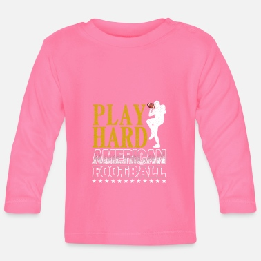 American Football PLAY HARD AMERICAN FOOTBALL - Långärmad baby T-shirt