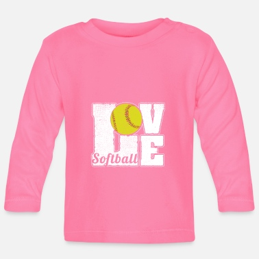 Softboll SOFTBALL LOVE - Långärmad T-shirt baby
