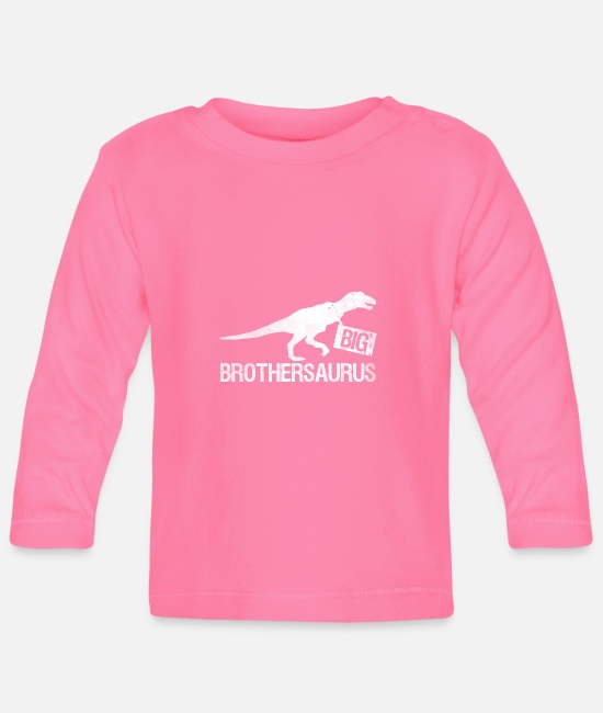Big Baby Long-Sleeved Shirts - Big Brothersaurus - Big Brother Shirt Gift - Baby Longsleeve Shirt azalea