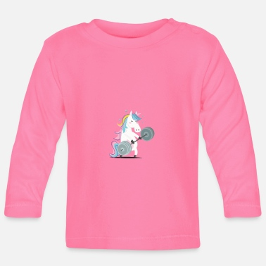 Funny Gym Funny Unicorn Gym - Camiseta manga larga bebé