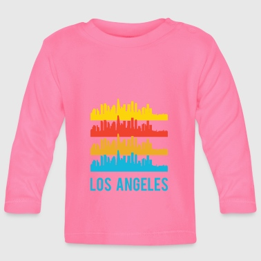 Pop Art / Graphic Novel: Los Angeles Skyline - Langarmet baby-T-skjorte