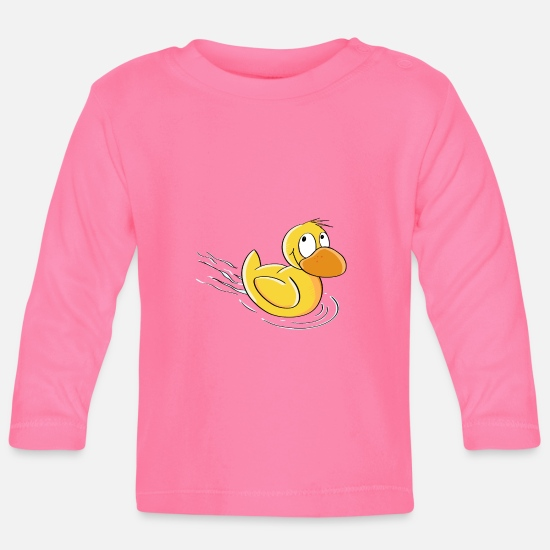 Comics  Babykleding - Sweet Swimming Duck - Comic - Baby longsleeve azalea