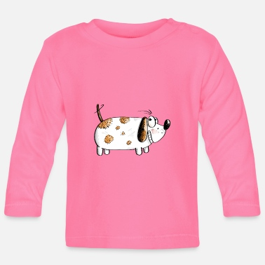 Fat Funny Dog - Dogs Comic - Baby Longsleeve Shirt