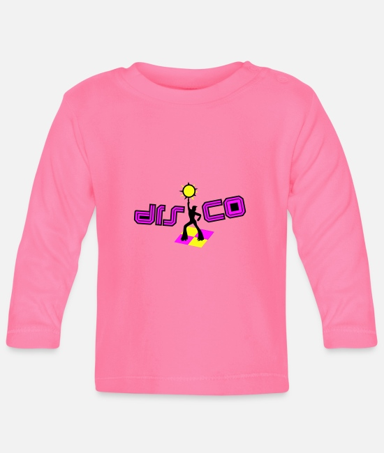 Party Baby Long-Sleeved Shirts - disco - Baby Longsleeve Shirt azalea