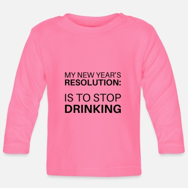 Resolution New Year's Resolution - Baby Longsleeve Shirt