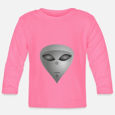 Alien Alien alien face alien - Baby Long Sleeve T-Shirt