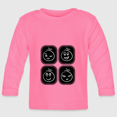 Smiley kids gift idea modern - Baby Long Sleeve T-Shirt