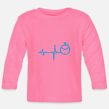 Sprinting Gift Heartbeat Sprint Athletics - Baby Longsleeve Shirt