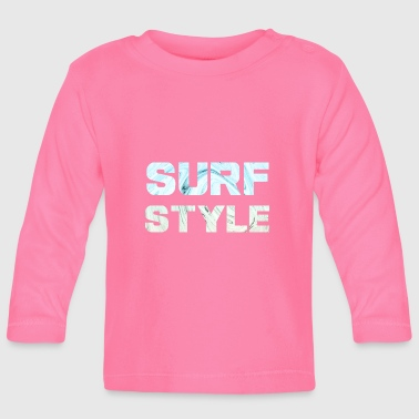 Marmer Surfstyle1 letters met marmeren achtergrond - T-shirt