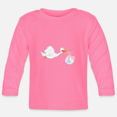 Toddler Stork with toddler - Baby Longsleeve Shirt