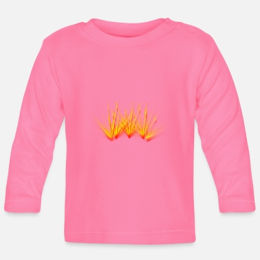 Fire beam laser colorful flame party - Baby Longsleeve Shirt