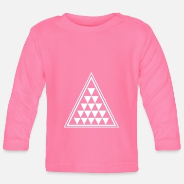 Triangle Triangle with many triangles - Baby Longsleeve Shirt
